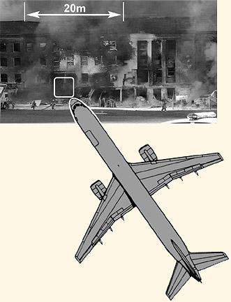 Pentagon 11. 9. 2001 pred pádom strechy