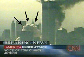 Dvojičky 11. 9. 2001 - dym, ktorý by tam nemal byť